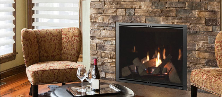 majestic marquis ii 36 direct vent gas fireplace with intellifire touch ignition ng