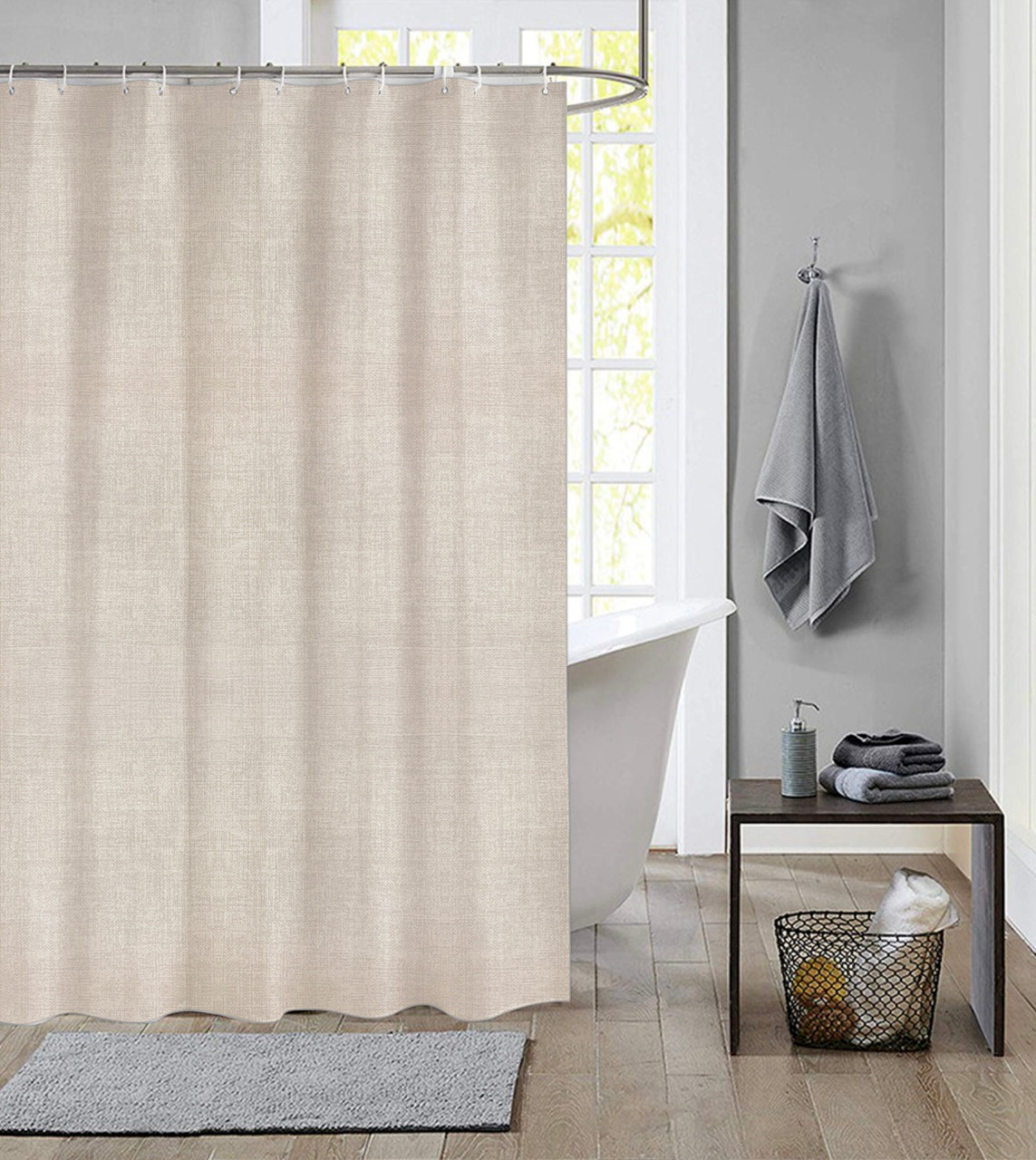 extra long shower curtain 72 x 78 inch dutch house polyester fabric simply linen