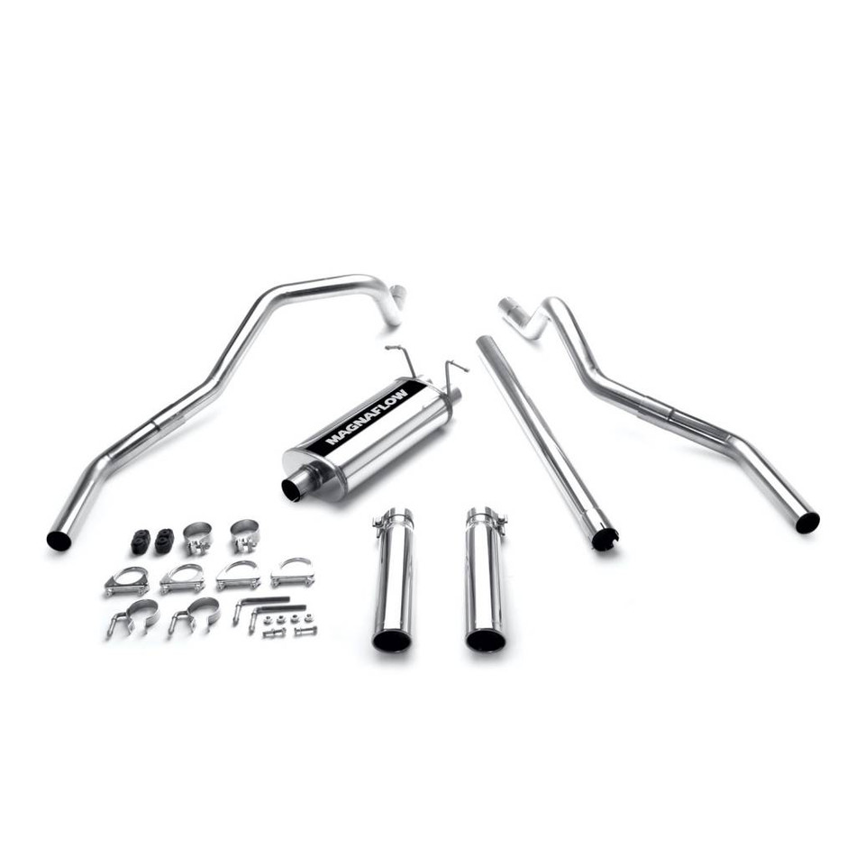 magnaflow stainless cat back 2 5 tubing 3 5 tip exhaust systems dual exhaust kit split rear exit