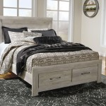 Bellaby Whitewash Queen Panel Storage Bed On Sale At American Furniture Of Slidell Serving Slidell La
