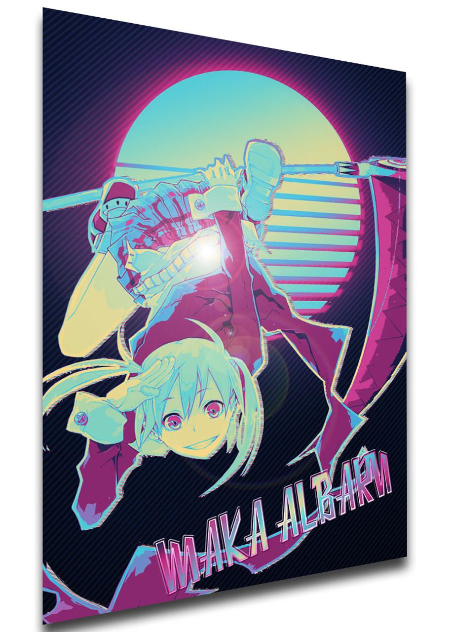 poster vaporwave 80s style soul