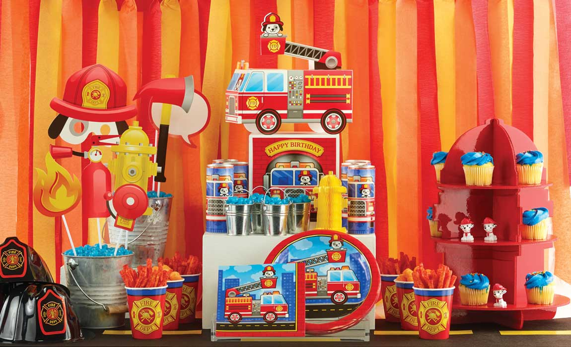 Firefighter Party Supplies For Kids Birthday Party Themes At Mtrade