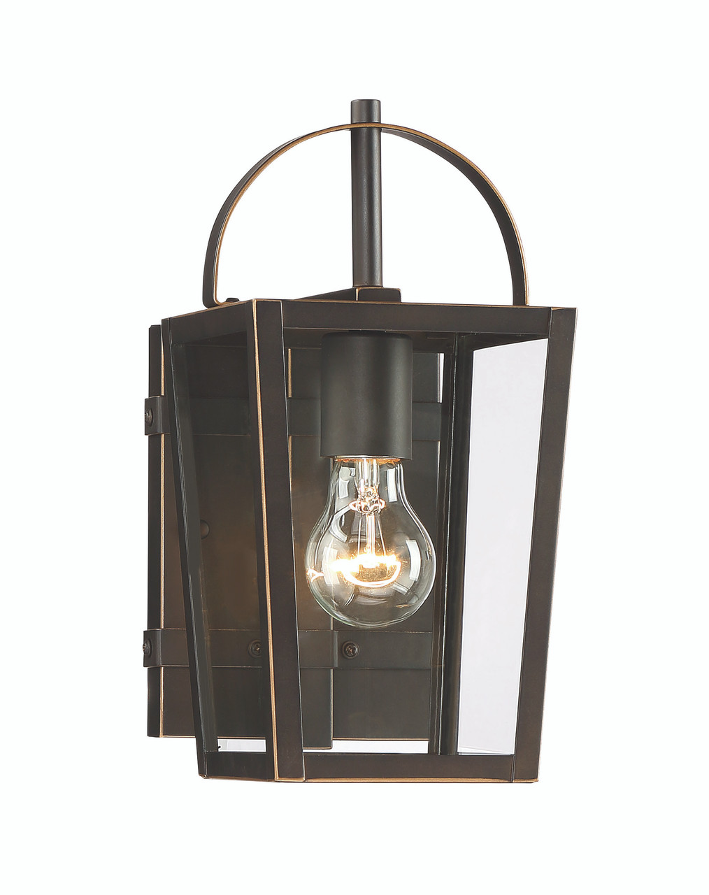 minka lavery rangeline 1 light outdoor wall mount in oil rubbed bronze with gold highlights finish