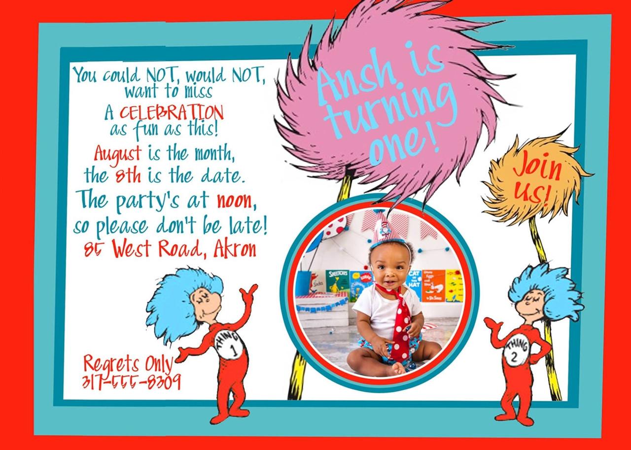 dr seuss birthday invitation 1