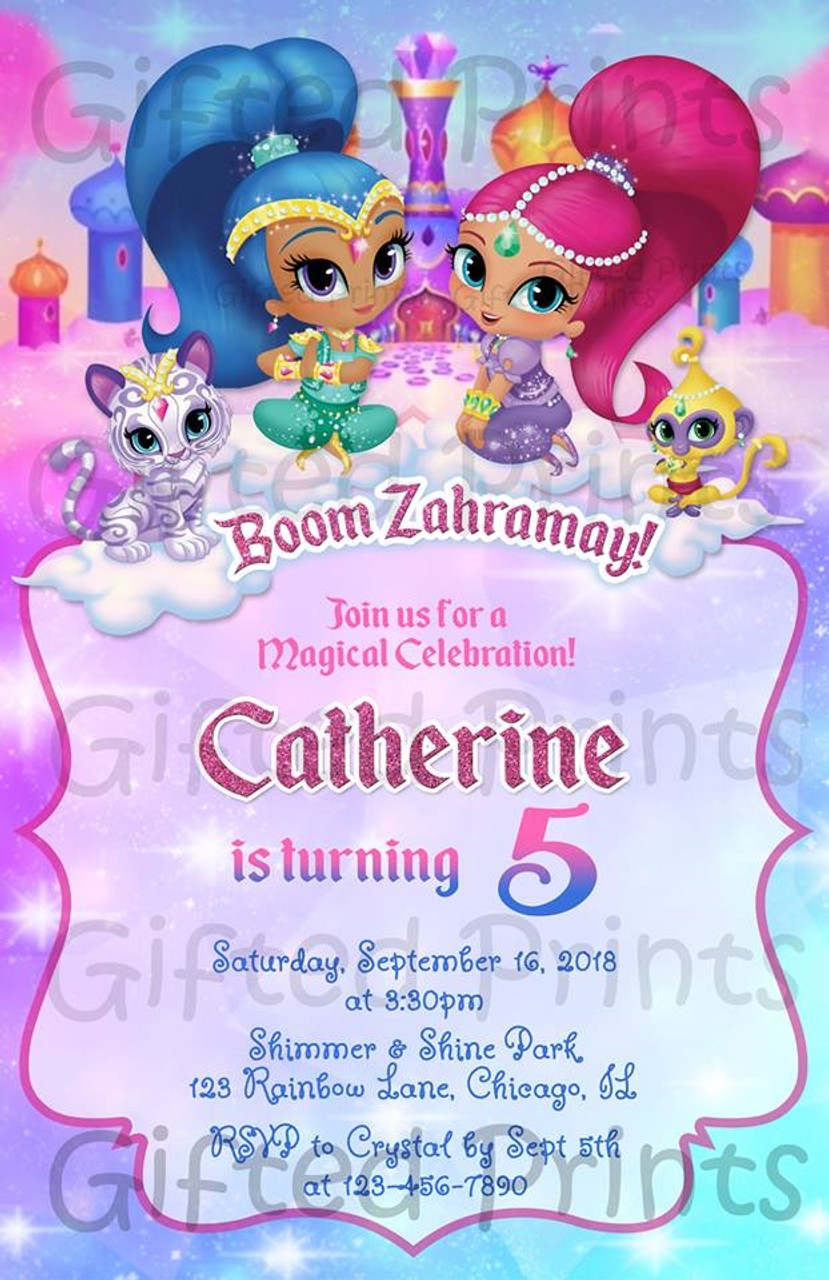 https giftedprints com birthday products by theme shimmer and shine birthday invitation with tala and nahal 0795 shimmer shine a