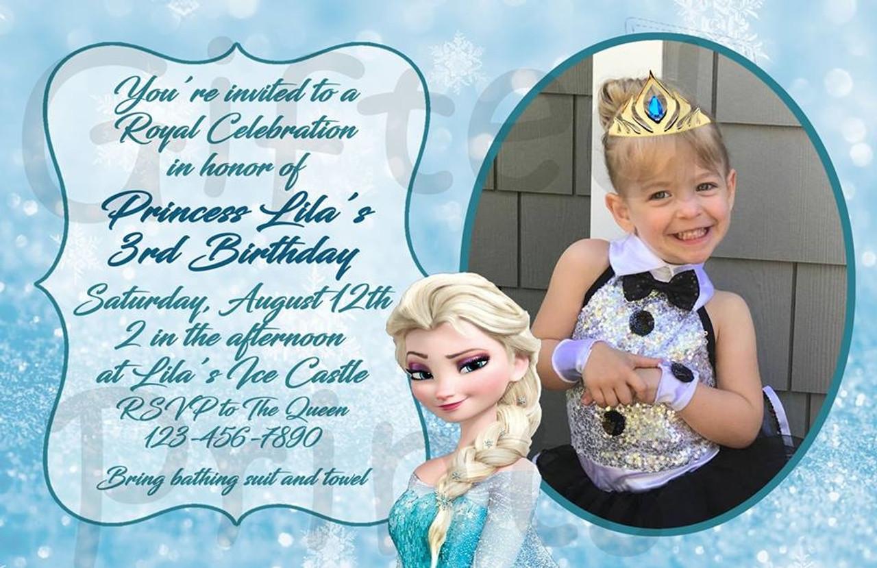 frozen birthday invitation 2