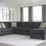The Eltmann Slate Laf Sofa With Corner Wedge Armless