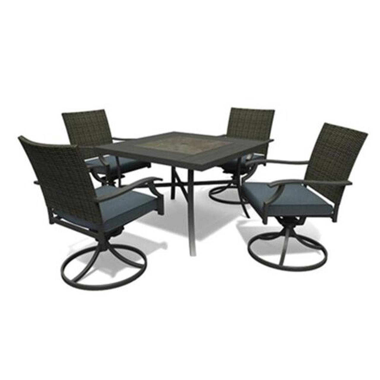belmont 5 piece outdoor dining patio set