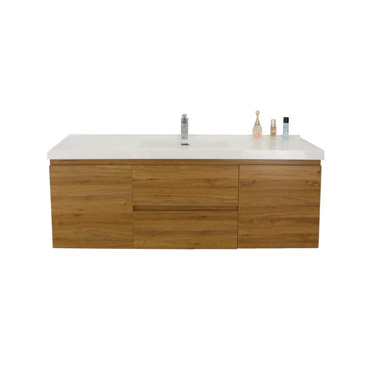 bohemia 60 single sink black wall mounted modern bathroom vanity with reinforced acrylic sink