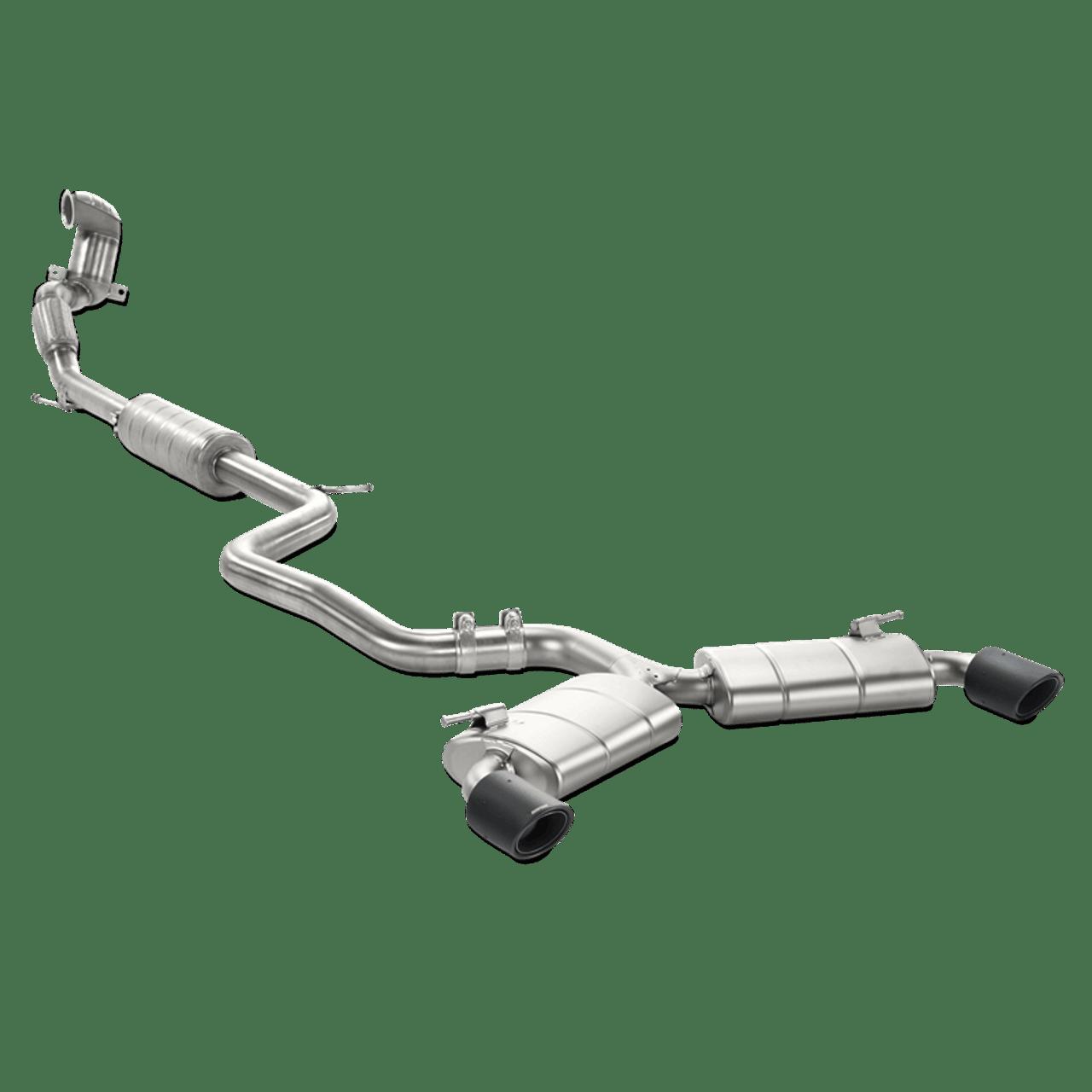 akrapovic evolution line titanium exhaust system vw golf mk7 gti