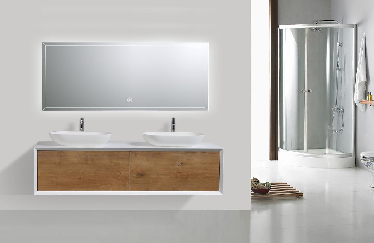 fiona 63 wall mount modern bathroom vanity with double vessel sink