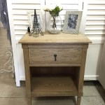 Versailles Open Bedside Weathered Oak
