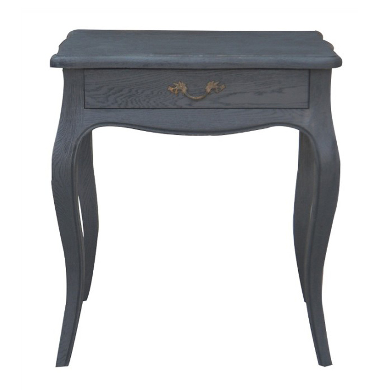 Josephine Bedside Table Black Oak Drifted