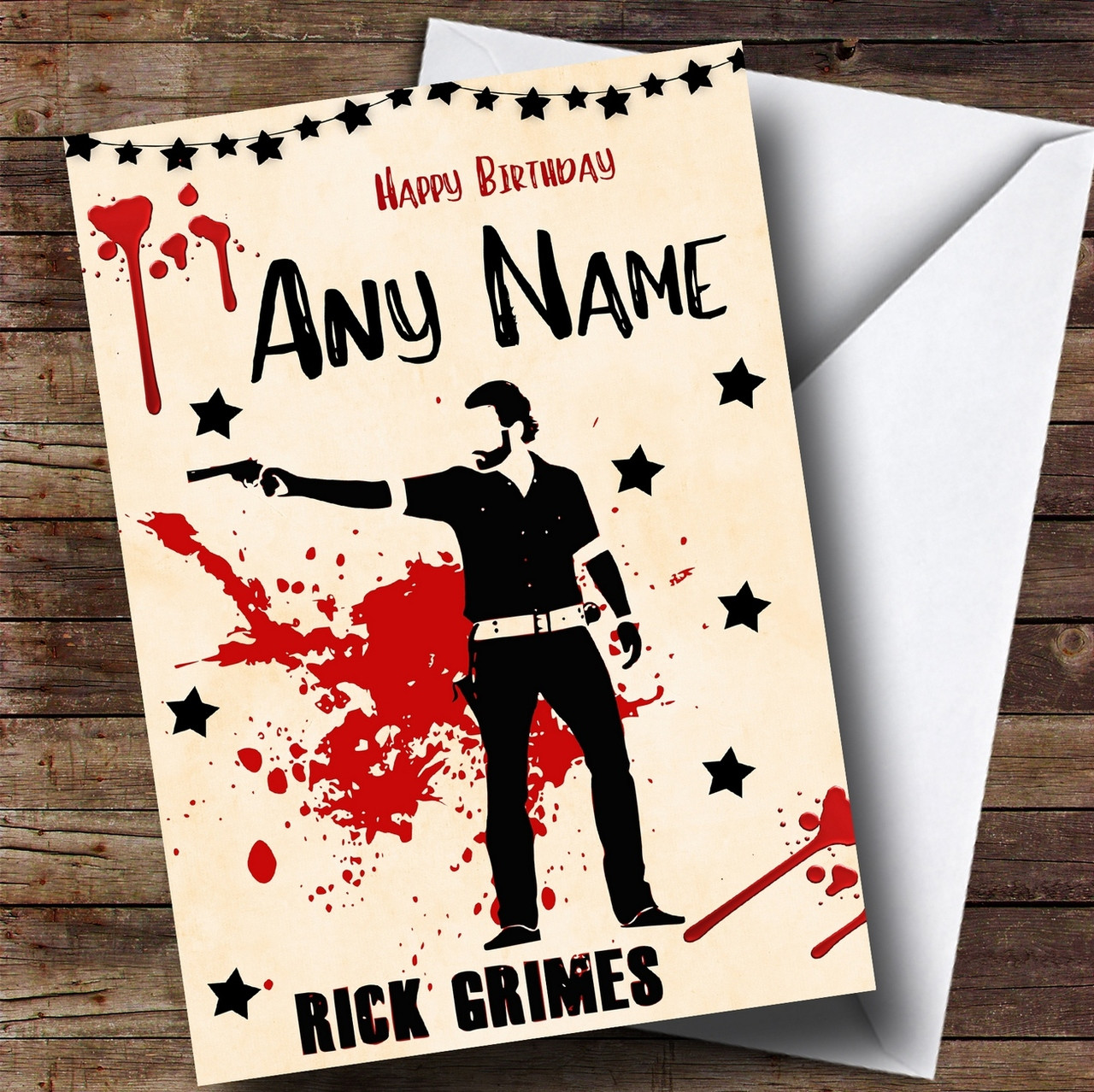 Rick Grimes The Walking Dead Personalised Birthday Card The Card Zoo