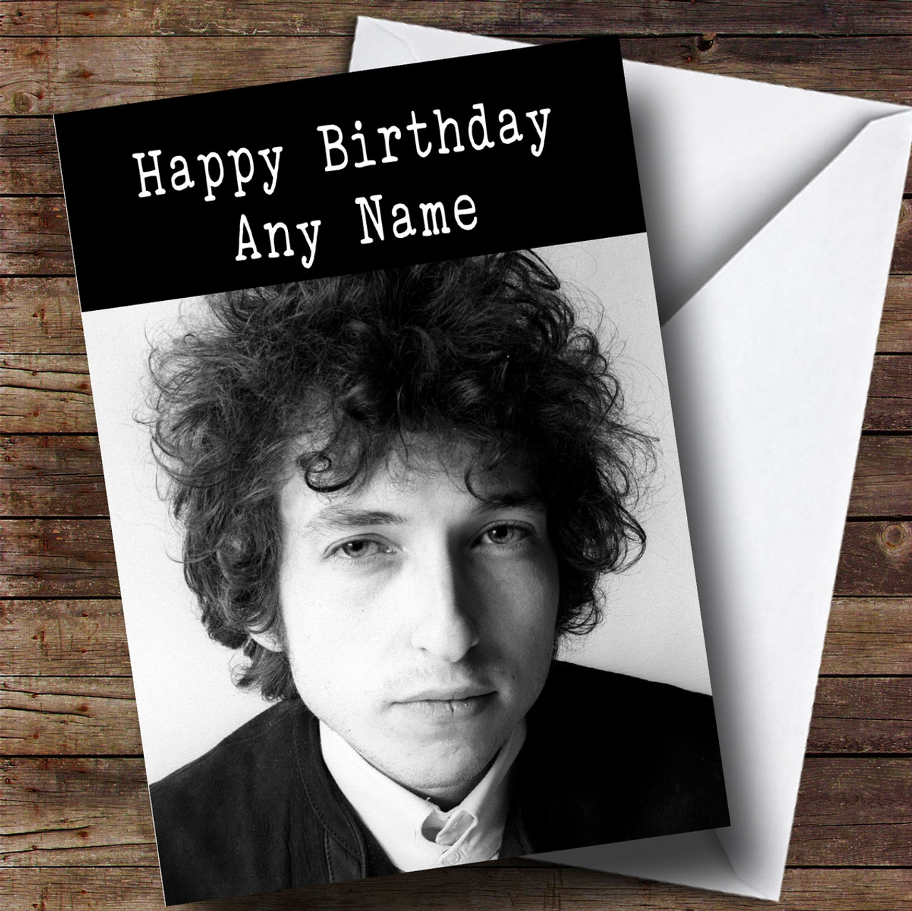 Personalised Bob Dylan Celebrity Birthday Card The Card Zoo