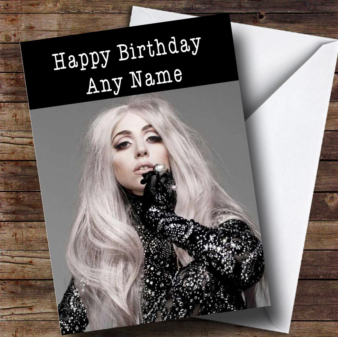 Personalised Lady Gaga Celebrity Birthday Card The Card Zoo