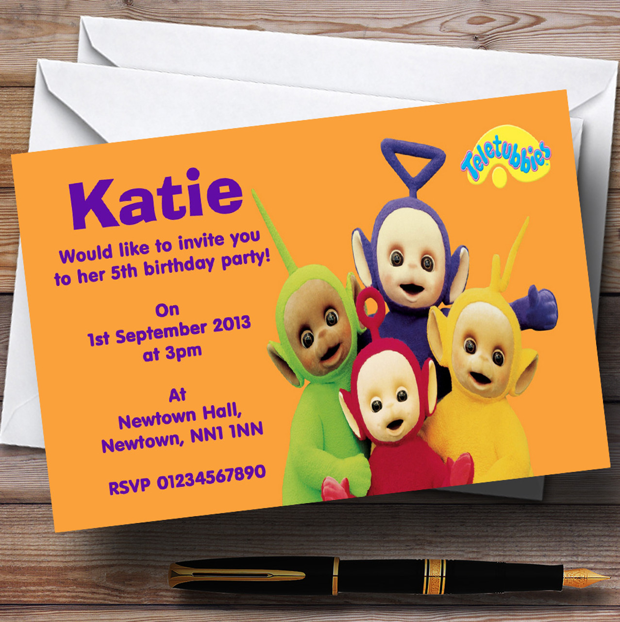 Teletubbies Personalised Children S Birthday Party Invitations
