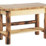 Log Sofa Table Rustic Accent Tables Cabin Furniture
