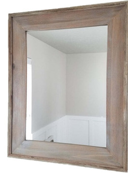 rustic mirrors wood metal