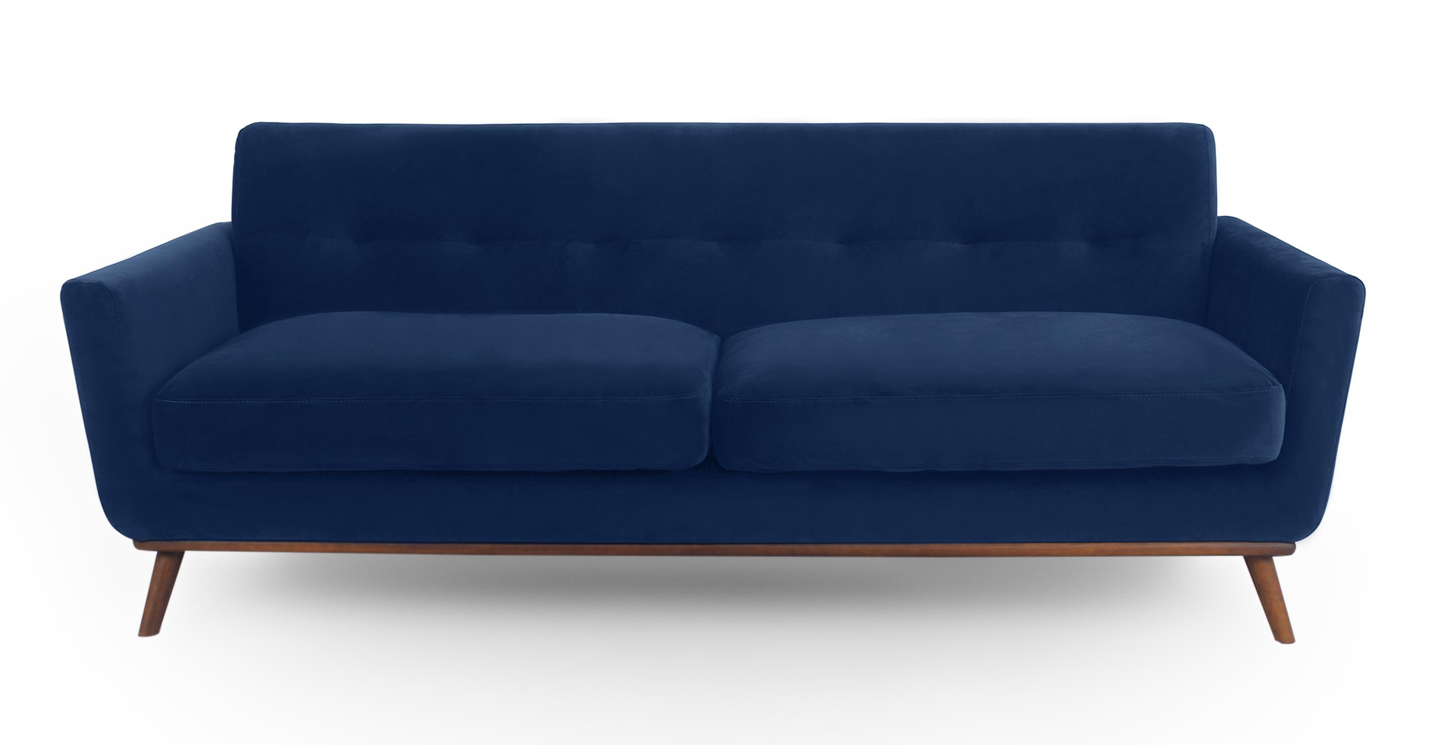 jackie 88 fabric sofa royal blue velvet