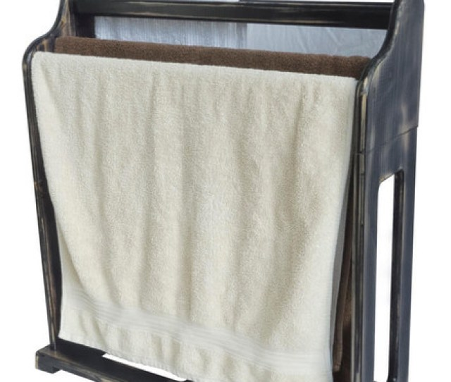 Hang Bath Or Hand Towels With This Elegant Freestanding Wooden Towel Rack And Bring The Natural
