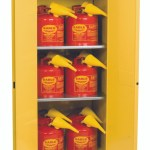 Eagle 1962xsc12 Flammable Liquid Safety Cabinet Combo 60 Gal Yellow 2 Door Man Close With 12 Ui50fs Safety Cans