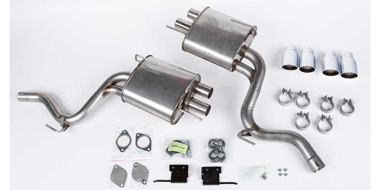 2015 2017 mustang 5 0l roush v8 quad tip axle back exhaust kit
