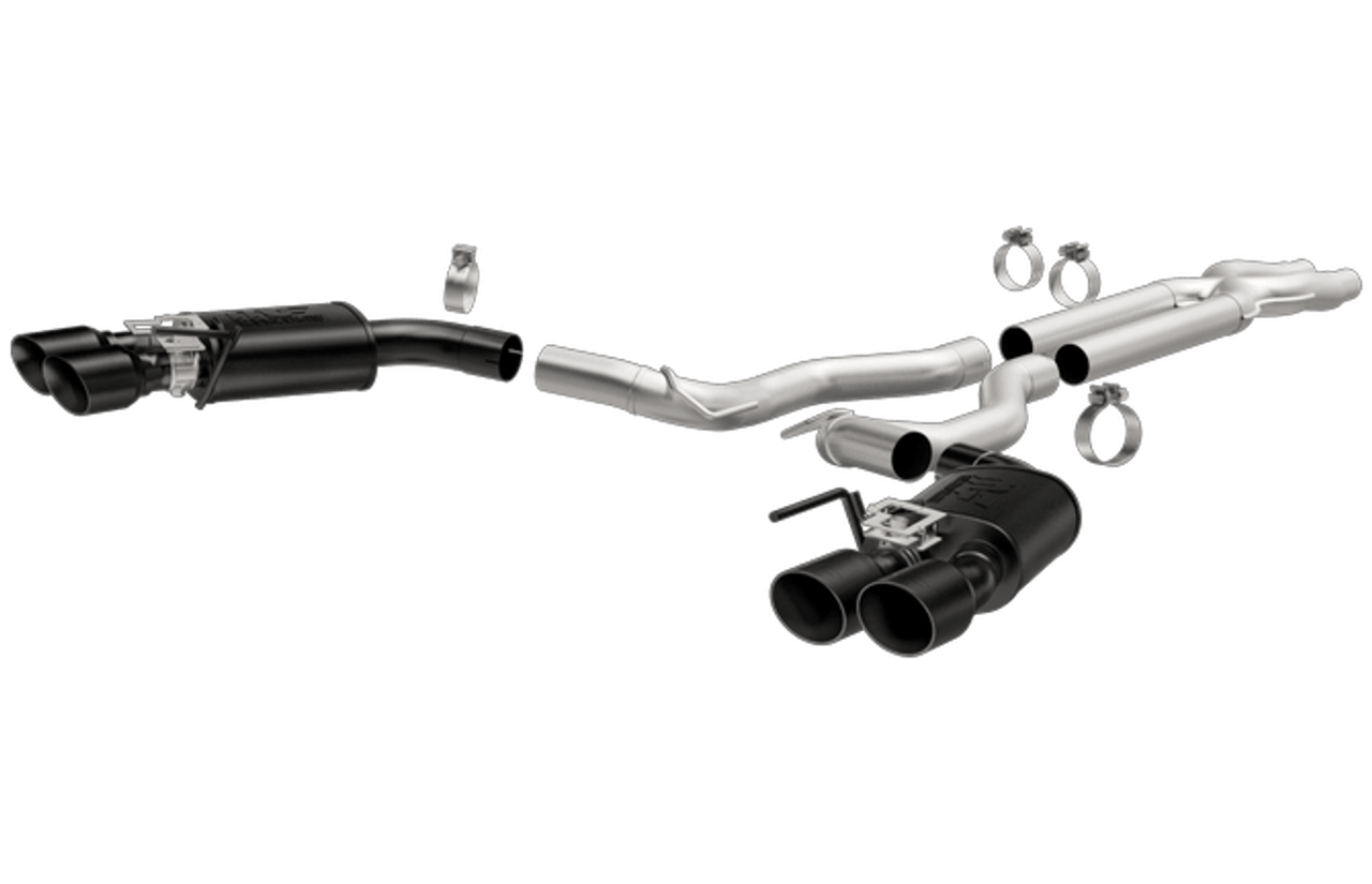 magnaflow competition catback black tips exhaust system 2018 2019 mustang gt 5 0l