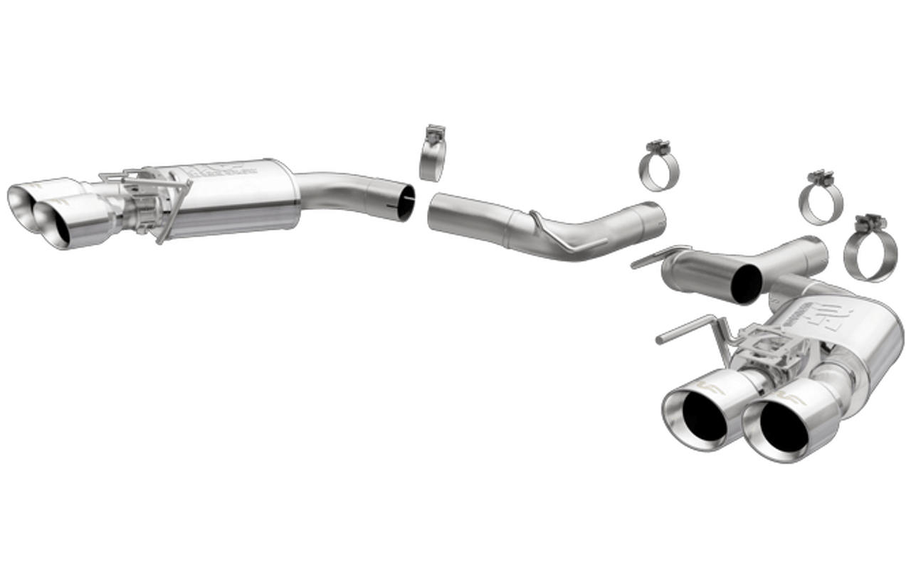 magnaflow competition axle back exhaust system 2018 2019 mustang gt 5 0l