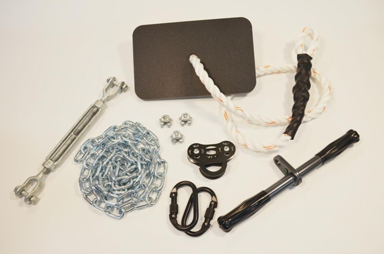Black Raptor Zip Line Kit With Seat Buyswings Com