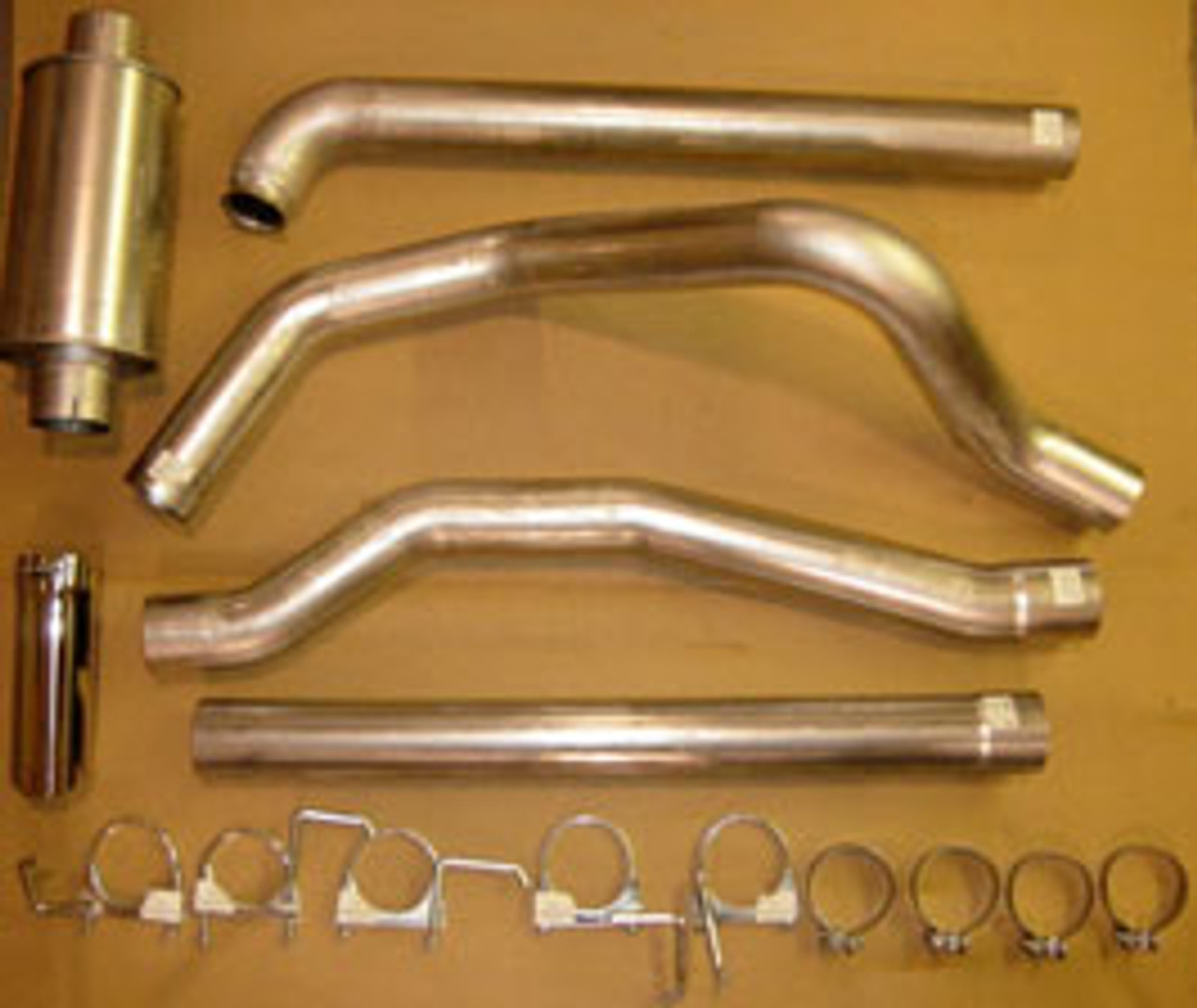 4 to 5 inch turbo back aluminized exhaust system with muffler grand rock powerflow ford 6 0l