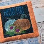 Hello Fall Pot Holder Fits An 8x8 Hoop Machine Embroidery Designs Tattered Stitch Embroideries
