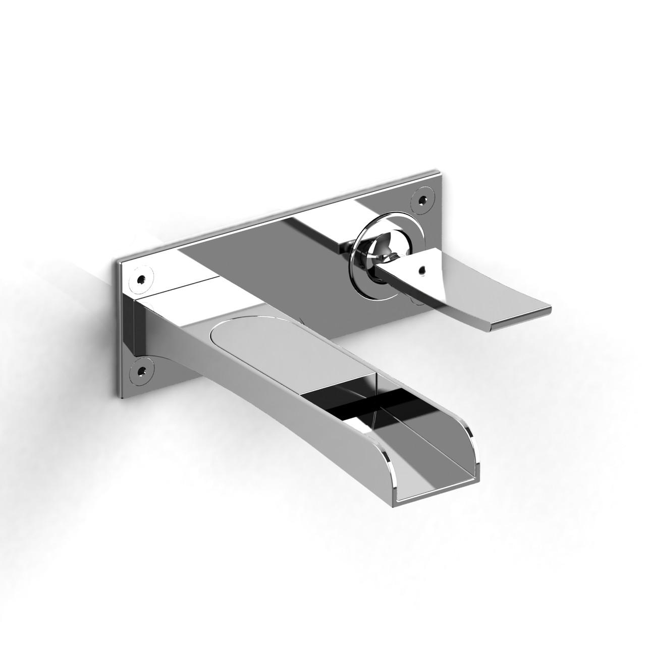 riobel zendo wall mount lavatory open spout faucet