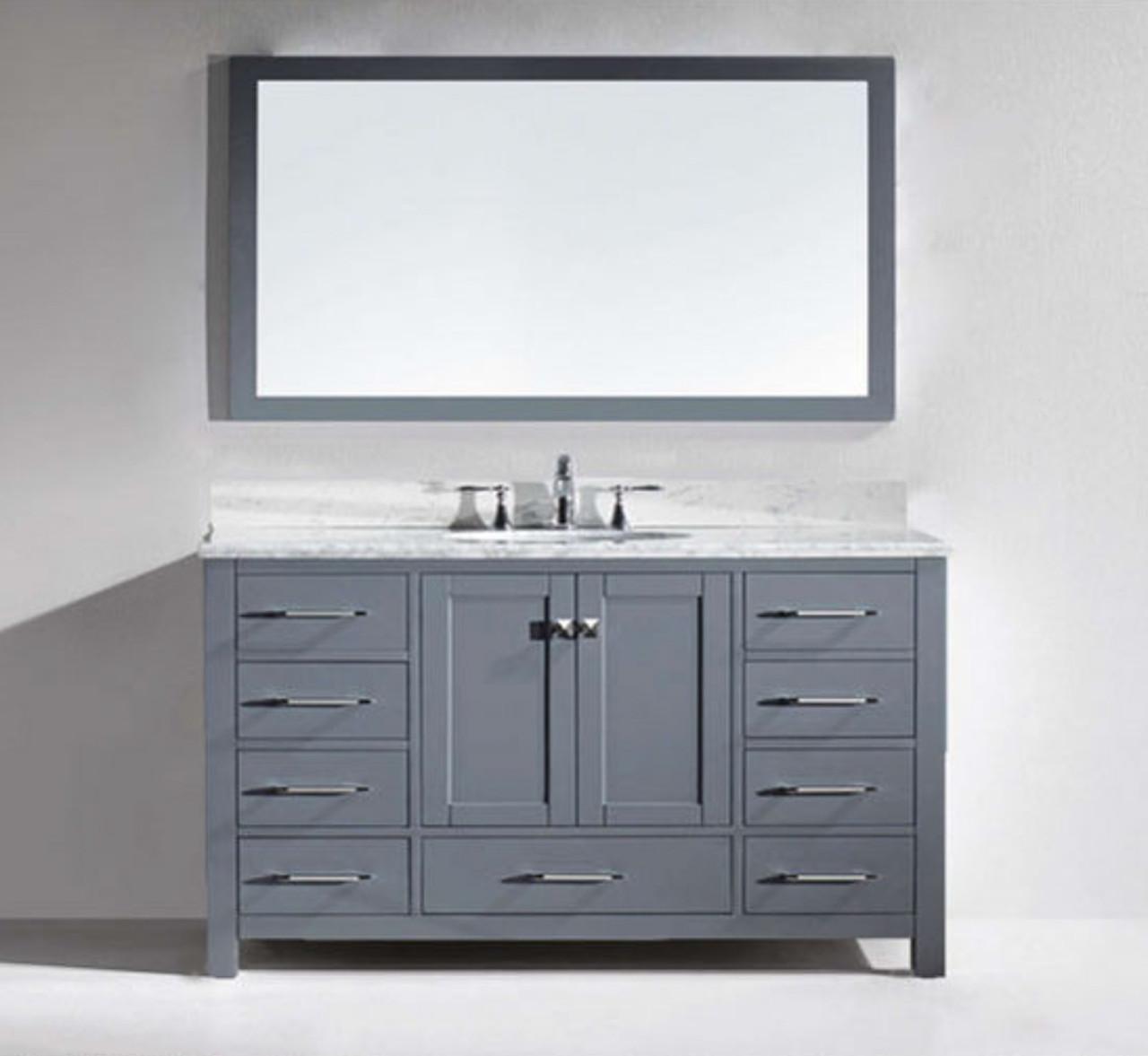 armada 60 vanity single sink light gray