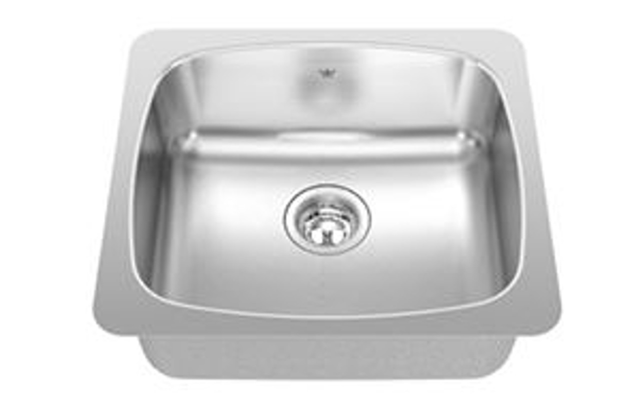 kindred qsu1820 10 qsu series undermount laundry sink in stainless steel