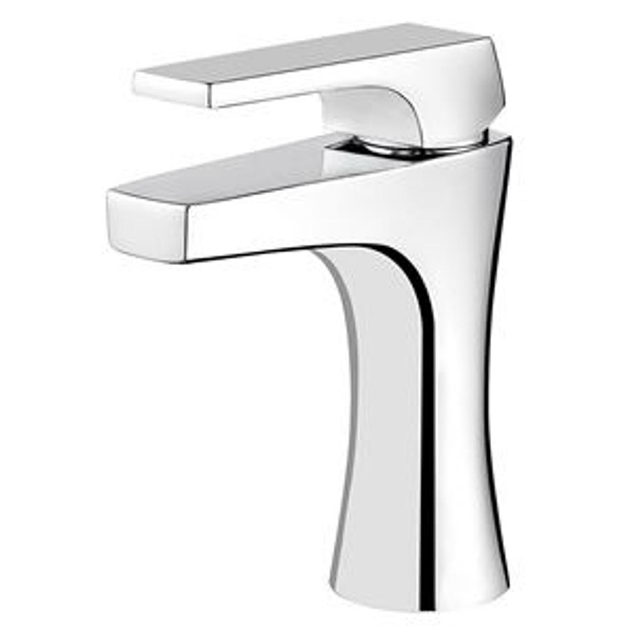 pfister lg42 mf0c kelen 1 lever handle lavatory faucet polished chrome