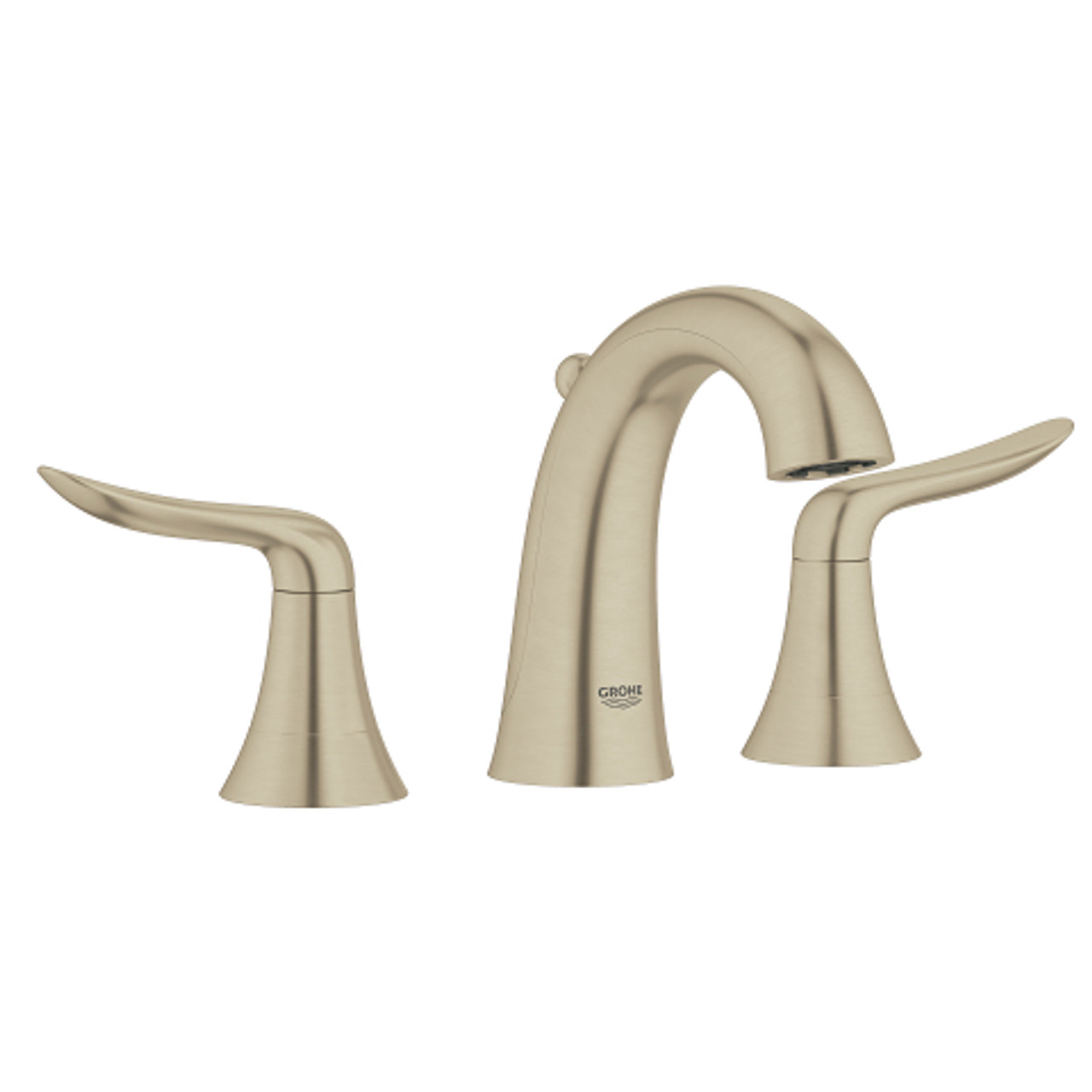 grohe agira 8 widespread two handle bathroom faucet lavatory wideset brushed nickel finish