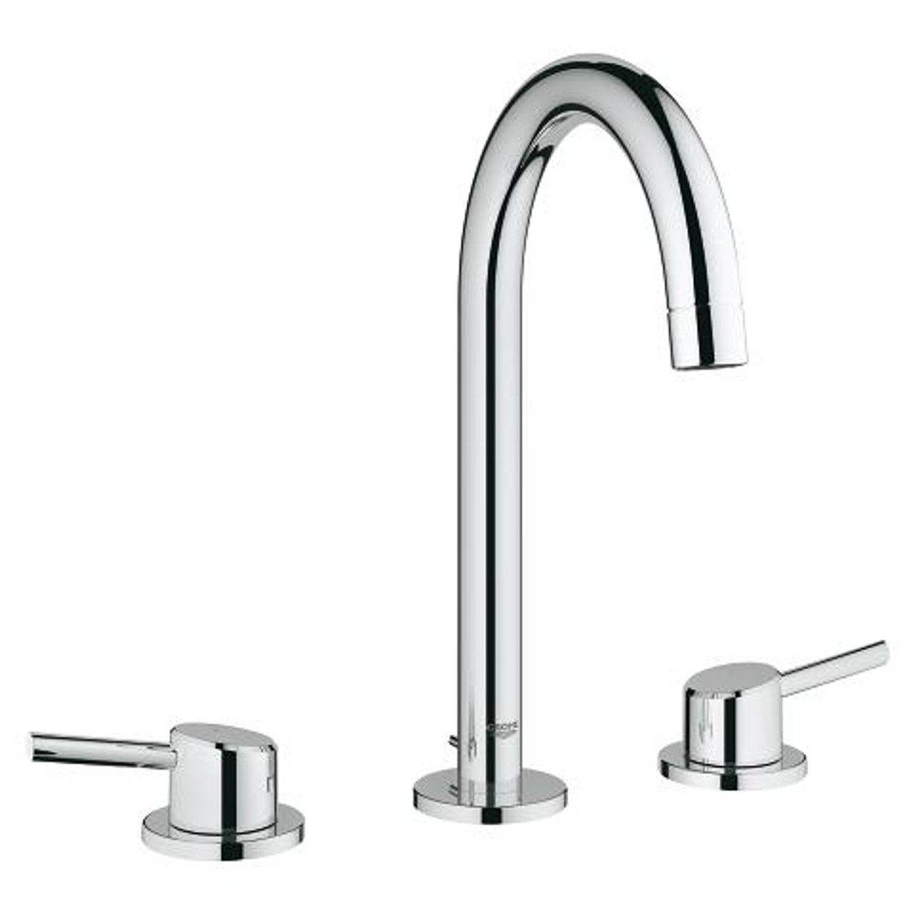 grohe concetto 8 widespread two handle bathroom faucet l size chrome finish