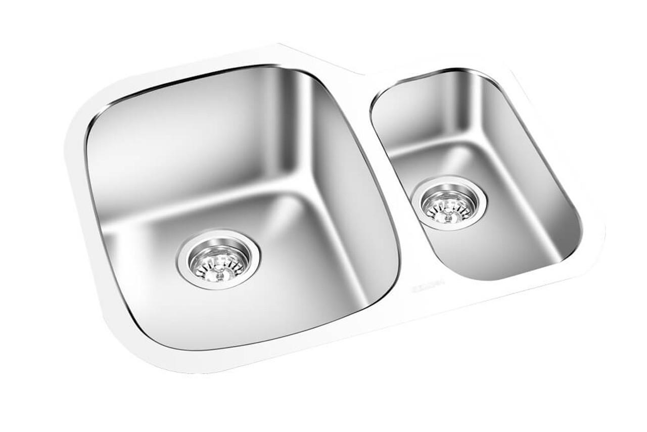 gem kitchen double sink undermount 24 x 18 km1614
