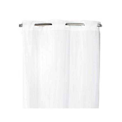 hookless shower curtain white 71 x 74