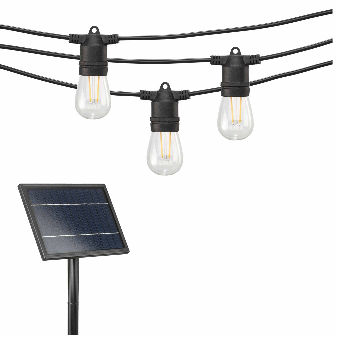 solar led outdoor string lights with s14 bulbs