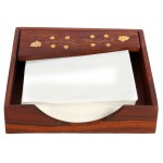 8 X8 X2 Handmade Adjustable Wooden Napkin Holder For Tissue Papers And Napkins