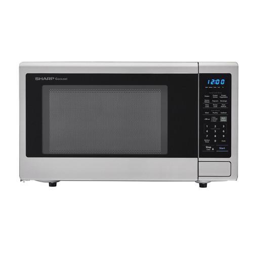 1 8 cu ft 1100w sharp stainless steel countertop microwave oven zsmc1842cs
