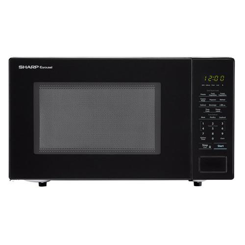 1 1 cu ft 1000w sharp countertop black microwave zsmc1131cb