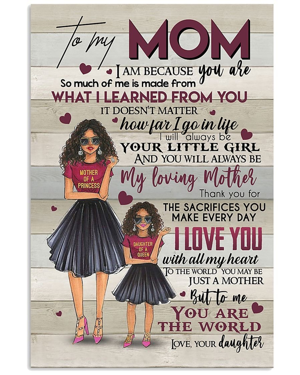 customized to my mom daughter and mom print poster wall art home decor best mother s day gift
