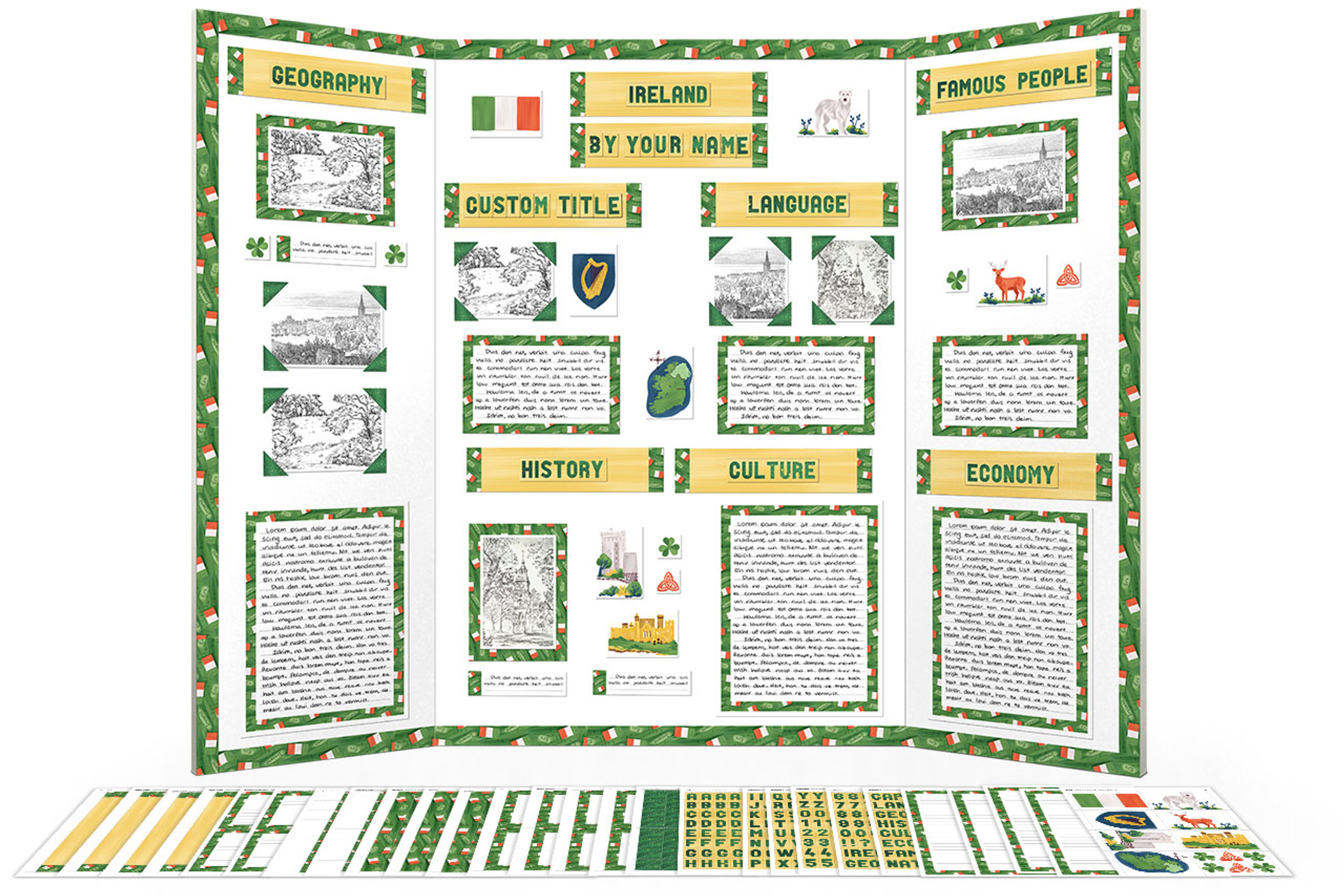 ireland display board poster project kit