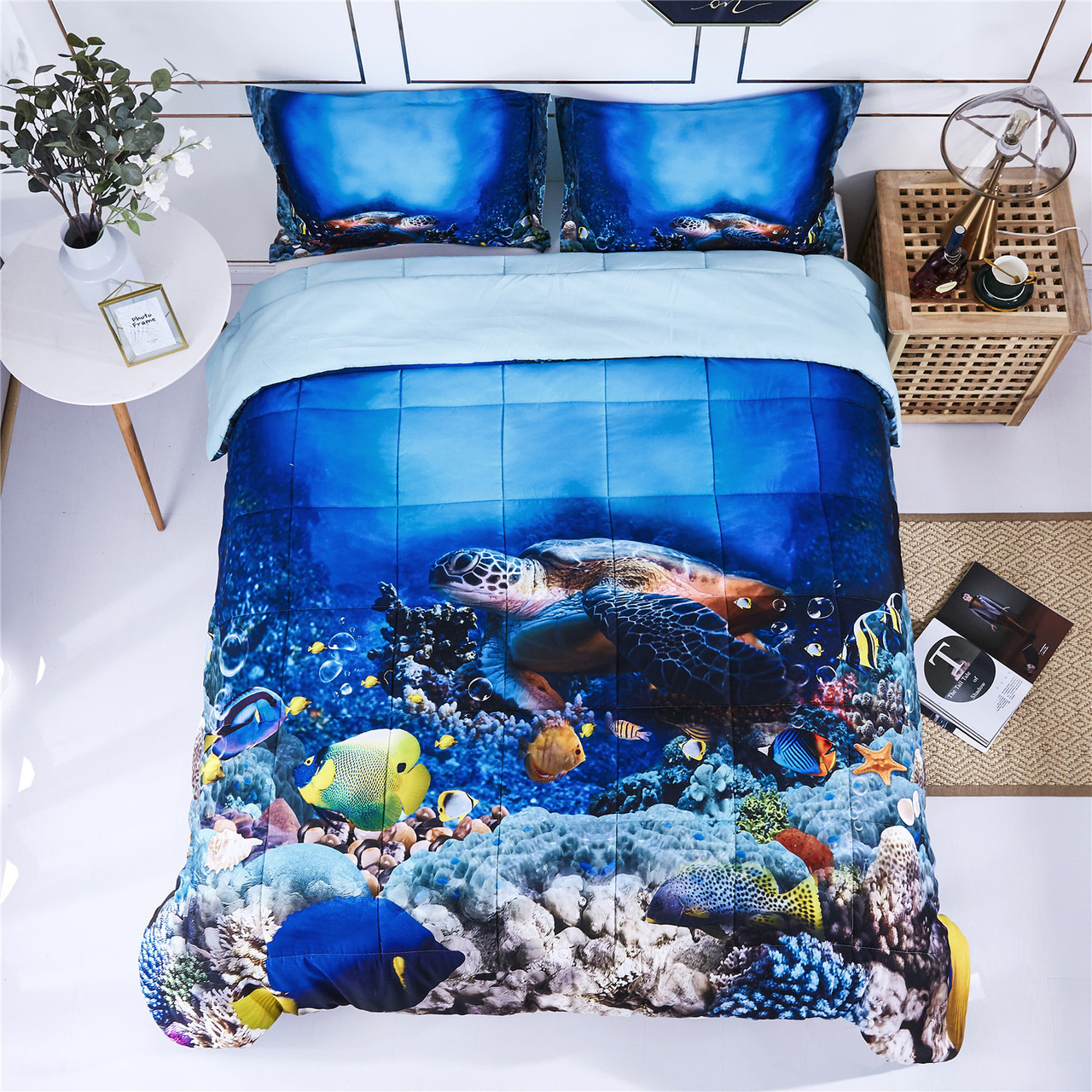 3d bedding set queen king size reactive animals and floral print comforter set box stitched quilted duvet general for men and women especially for