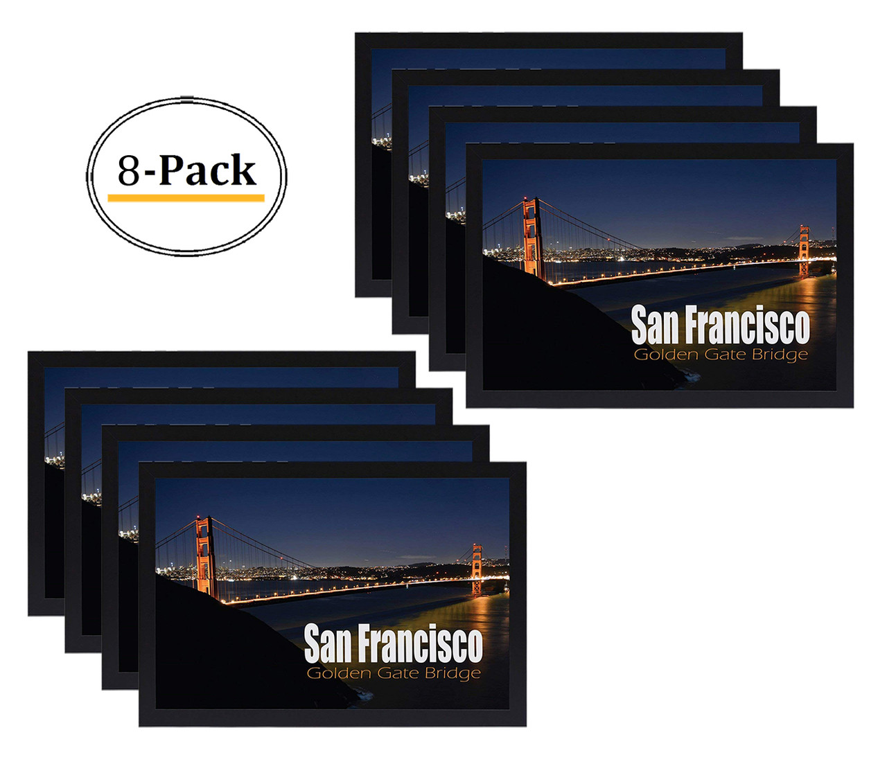 12x18 poster frame with plexiglas front golden gate bridge gallery edition designed to display vertically or horizontally on a wall 8pcs box