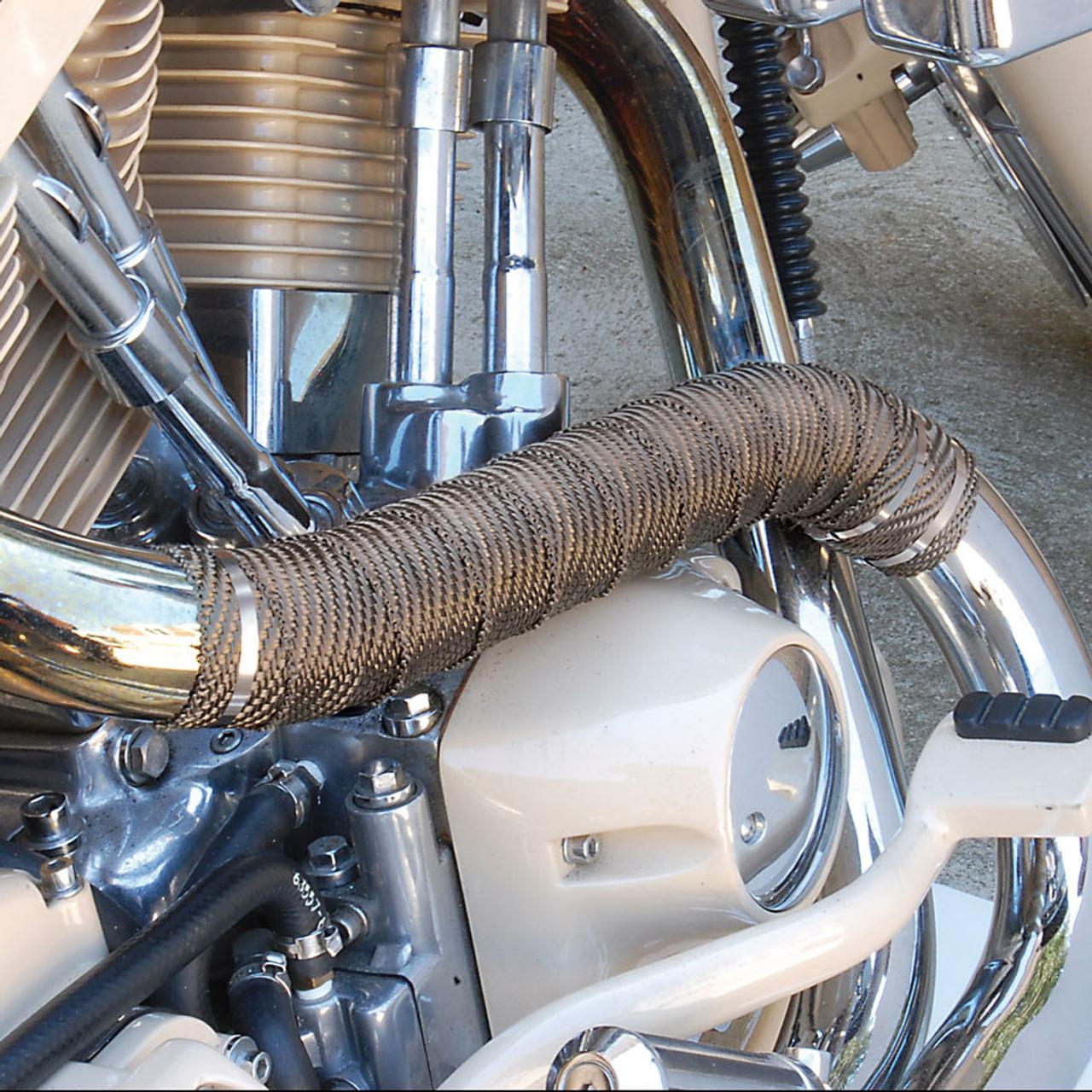 titanium exhaust pipe wrap kit clamshell