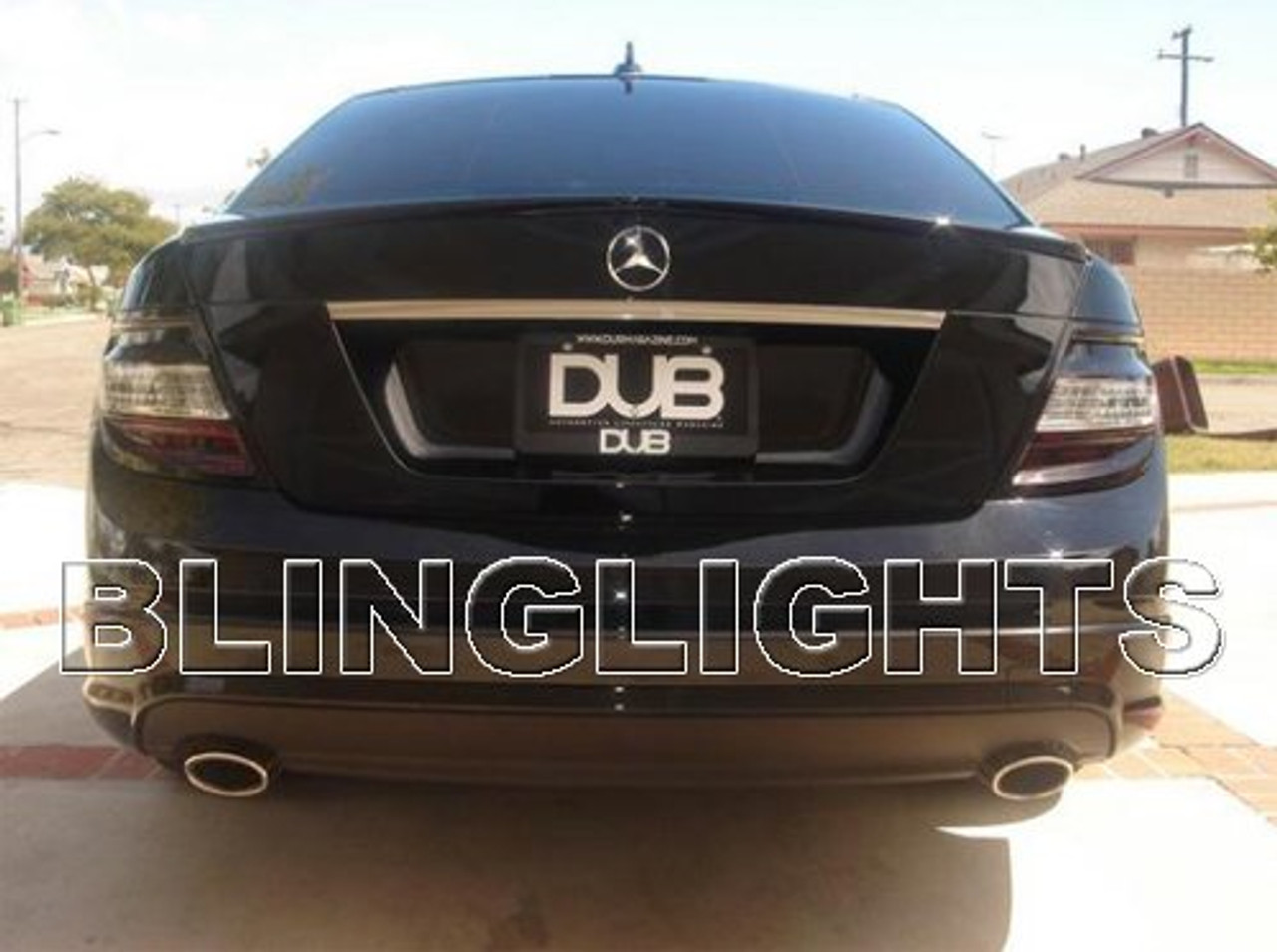 2008 2009 2010 2011 mercedes c300 smoked taillamps taillights tail lamps lights tint film overlays